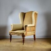 c327 19th century english wing chair inc
