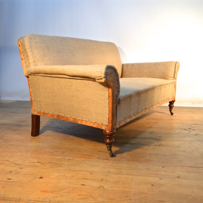 Antique Sofa Reupholstery Cost: 1930's TWO SEATER SOFA. REUPHOLSTERY INCLUDED C117
