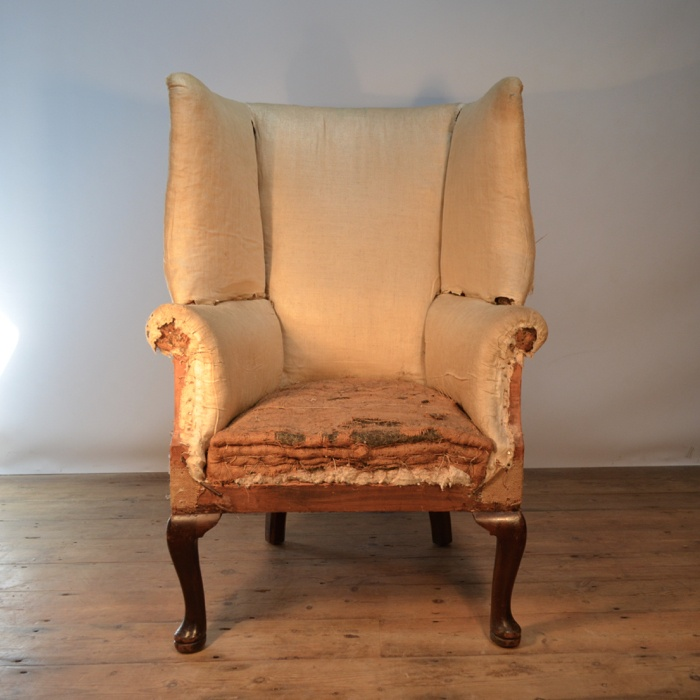 CABRIOLE LEG WING CHAIR REUPHOLSTERY INCLUDED | The One Off Chair ...