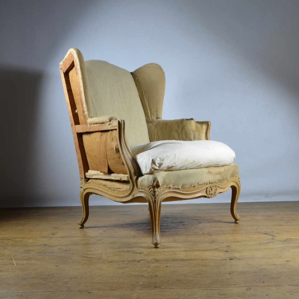 C277 French Wing Chair Reupholstery Included