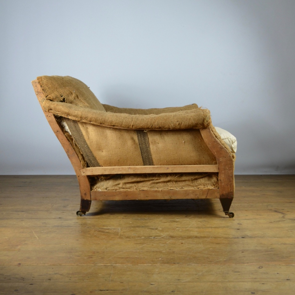 C234 Edwardian English Armchair Reupholstery Included The One Off Chair Company