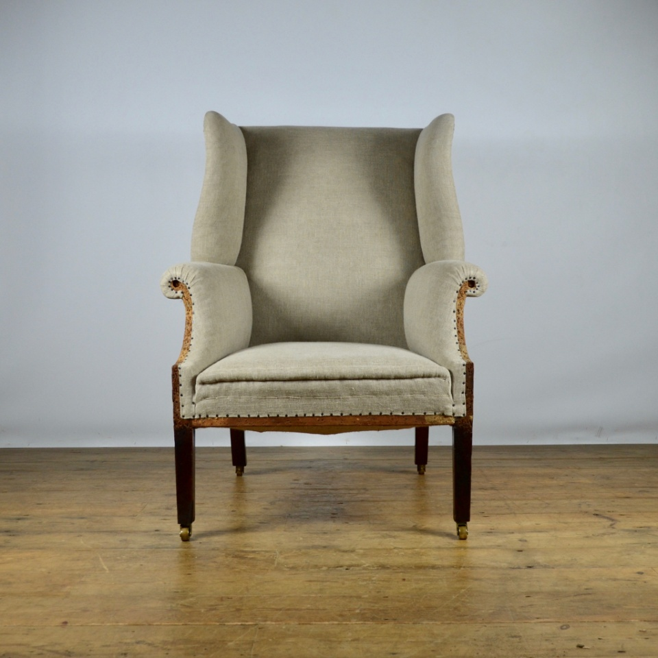 C231 Georgian English Wing Chair Reupholstery Included